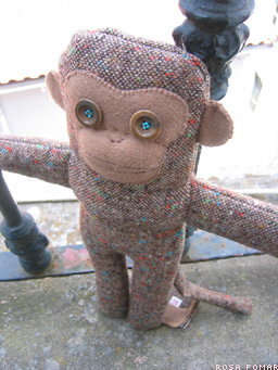 handmade monkey doll