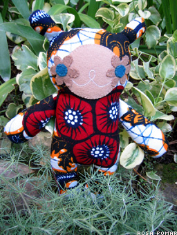 boneco no jardim