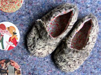 sapatos peludos