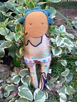 boneca de seda