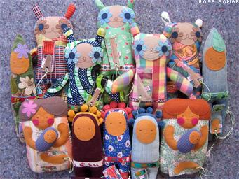 bonecos na loja Quer