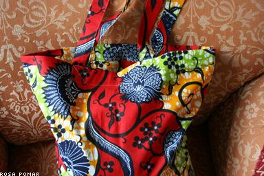 saco de tecido africano