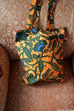 saco tecido africano